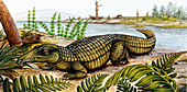 Proterosuchus,illustration
