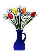 Tulips in a vase,X-ray