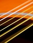 Guitar strings vibrating