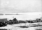 Cape Evans base in Antarctica,1911