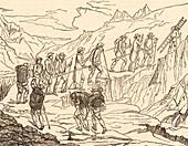 De Saussure's ascent of Mont Blanc