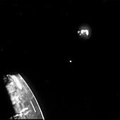 Jettisoned Apollo 13 service module,1970