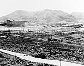 Nuclear destruction at Nagasaki,1945