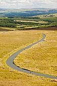 A moorland road,UK