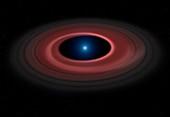 Debris ring around a white dwarf star
