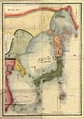 Map of Japan,18th century