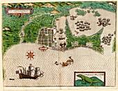 Drake's attack on Cartagena,1586