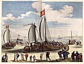 Dutch land yachts,16th century