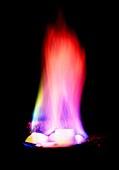 Burning methane hydrate