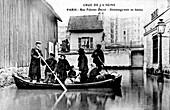 10th Century flooded Paris street,France