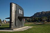 Nuclear submarine sail,Arco,USA