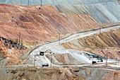 Open-cast copper mine,New Mexico,USA