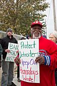 Anti-fracking demonstration,USA