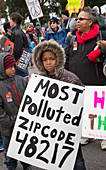 March For Justice protest,Detroit,USA