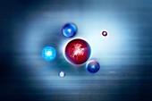 Exotic particles,conceptual illustration
