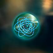 Thorium atom,conceptual image