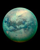 Titan from space,Cassini image