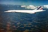 Concorde in flight,1976