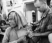Cholera vaccination in Vietnam,1966