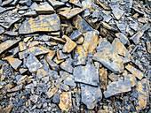 Waste quarry slate