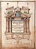Portuguese atlas title page,1630