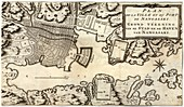 Dutch map of Nagasaki,18th century