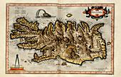 Iceland,1595 Mercator atlas