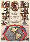 Spanish New World atlas title page,1622