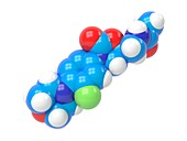 Linezolid antibiotic molecule