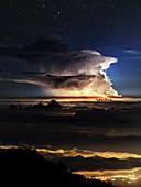 Thunderstorm from Haleakala,Hawaii