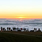 Sunset tourism on Haleakala,Hawaii