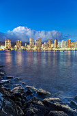 Honolulu skyline,Hawaii