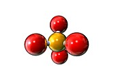 Silicon dioxide,molecular model