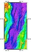 Mid-Atlantic Ridge,2D bathymetric image