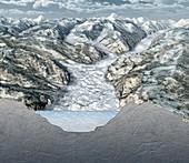 Glacier-filled Kings Canyon,artwork