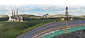 Carbon capture technology,illustration