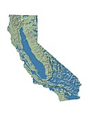 California groundwater map,illustration