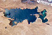 Lake Titicaca from space