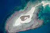 Adele Island,Australia,from space