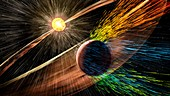 Mars losing atmosphere in solar wind