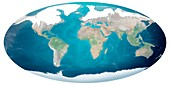 Earth's sea levels during peak glaciation