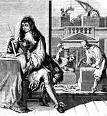 17th Century architect,illustration