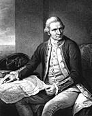 Captain James Cook,British explorer