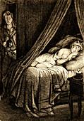 The sleep',19th Century illustration