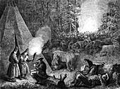 19th Century arctic explorers in Lapland