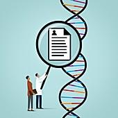 DNA profiling,conceptual illustration