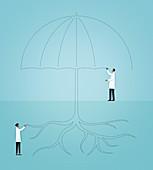 Health insurance,conceptual illustration