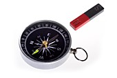 Compass and magnet