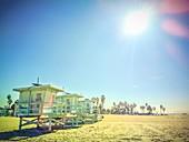 Beach huts,Venice Beach,USA