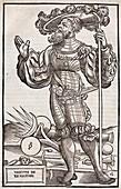 1532 Portrait Military author Vegetalius